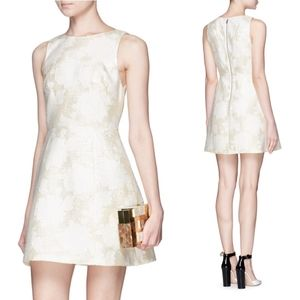 Alice + Olivia Metallic Jacquard Mini Dress